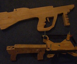 (Part 1) Making an extremely powerful  bullpup slingshot crossbow!