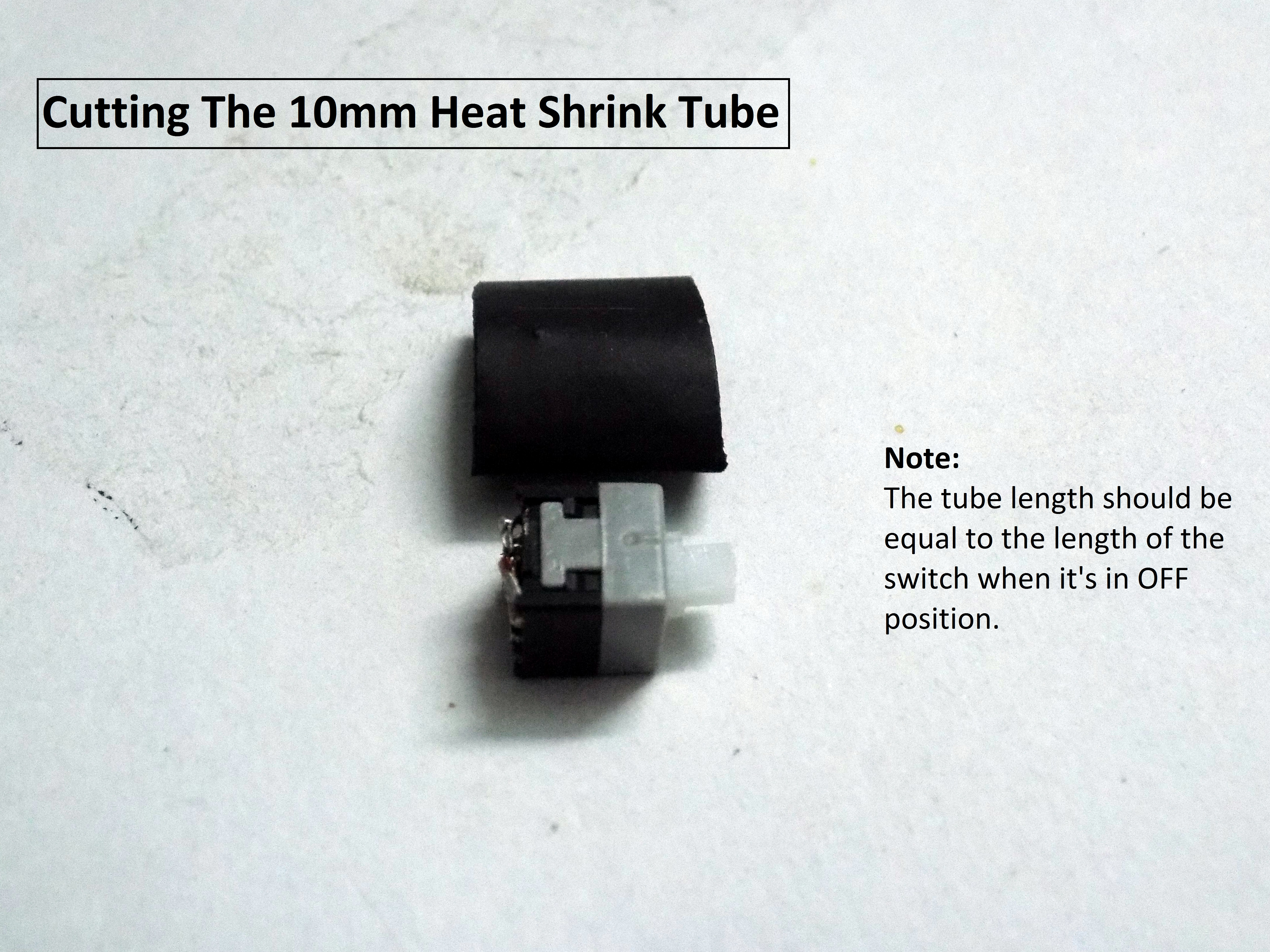 Picture of Putting on the Heat Shrink Tube