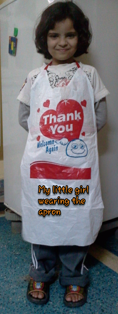 Picture of Apron From a Plastic Bag