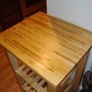 Refinish a wooden kitchen shelf