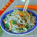 Vegetable Stir Fry Glass Noodles- GF and Healthy