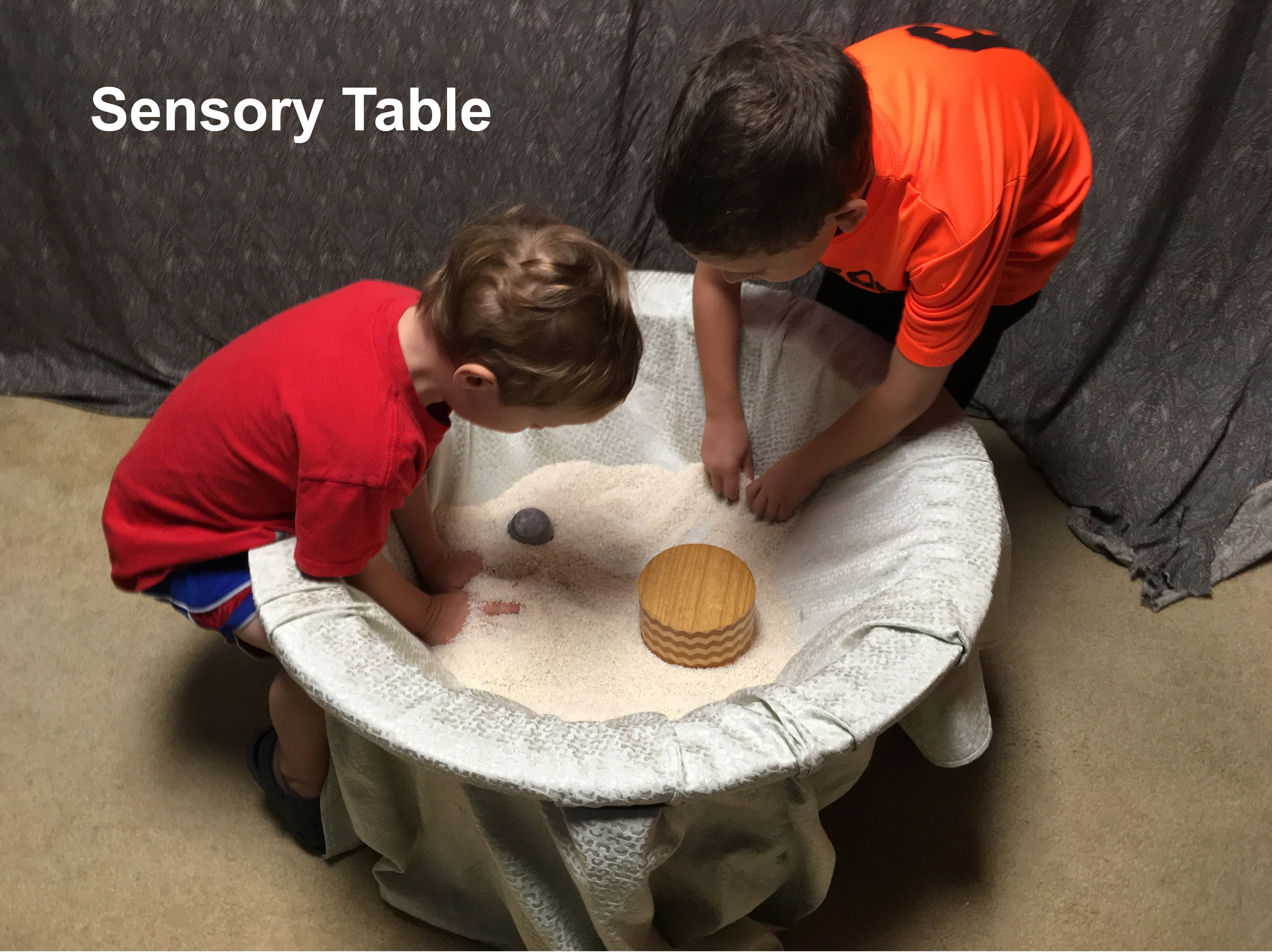 Picture of Sensory Table From Old Coffee Table