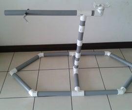 PVC European bike repair stand