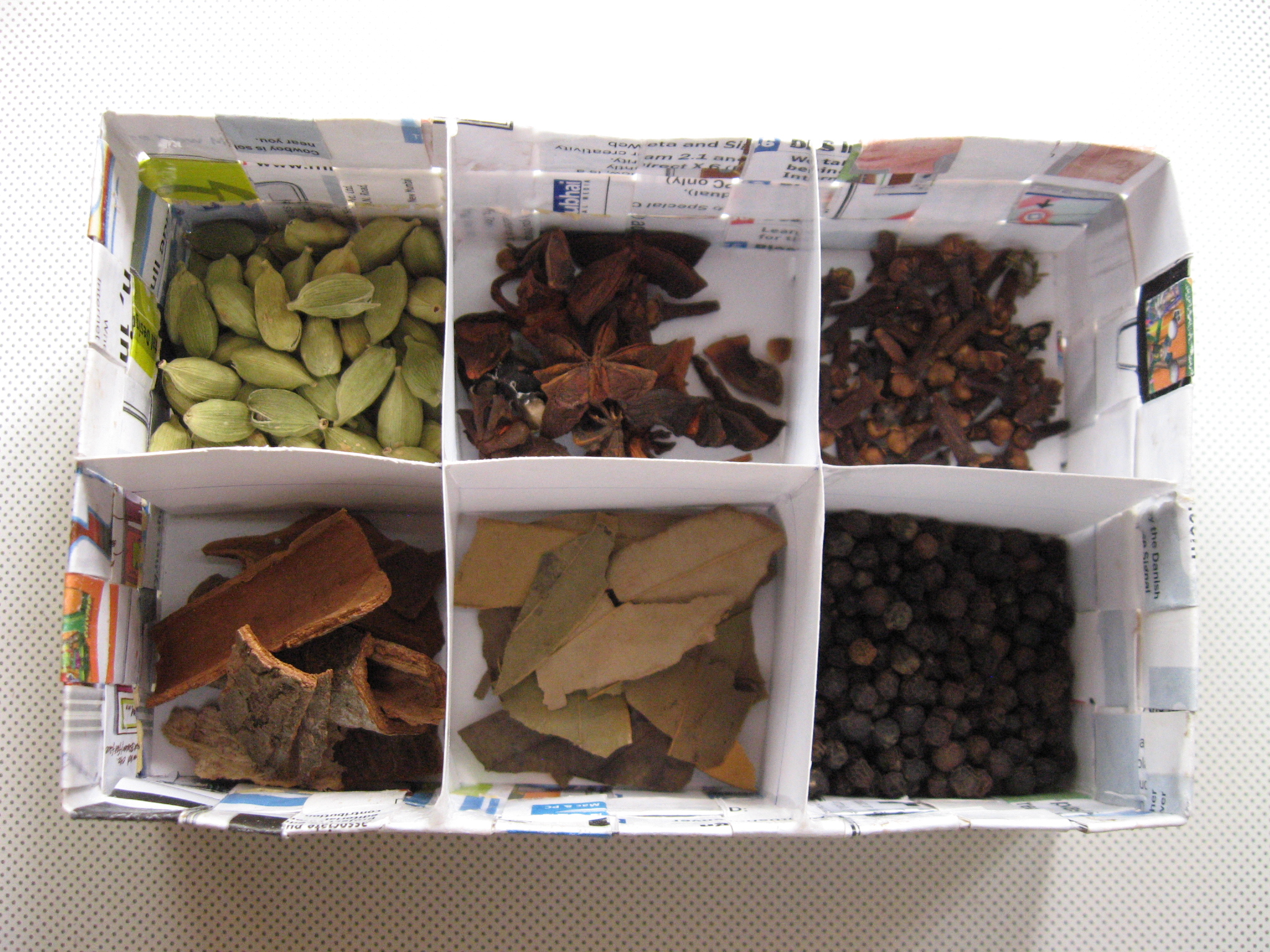 Picture of How to Weave a Spice Storage Box From Old Magazine
