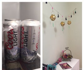 Turn Beer Cans into an Anthropologie-Inspired Lantern Garland