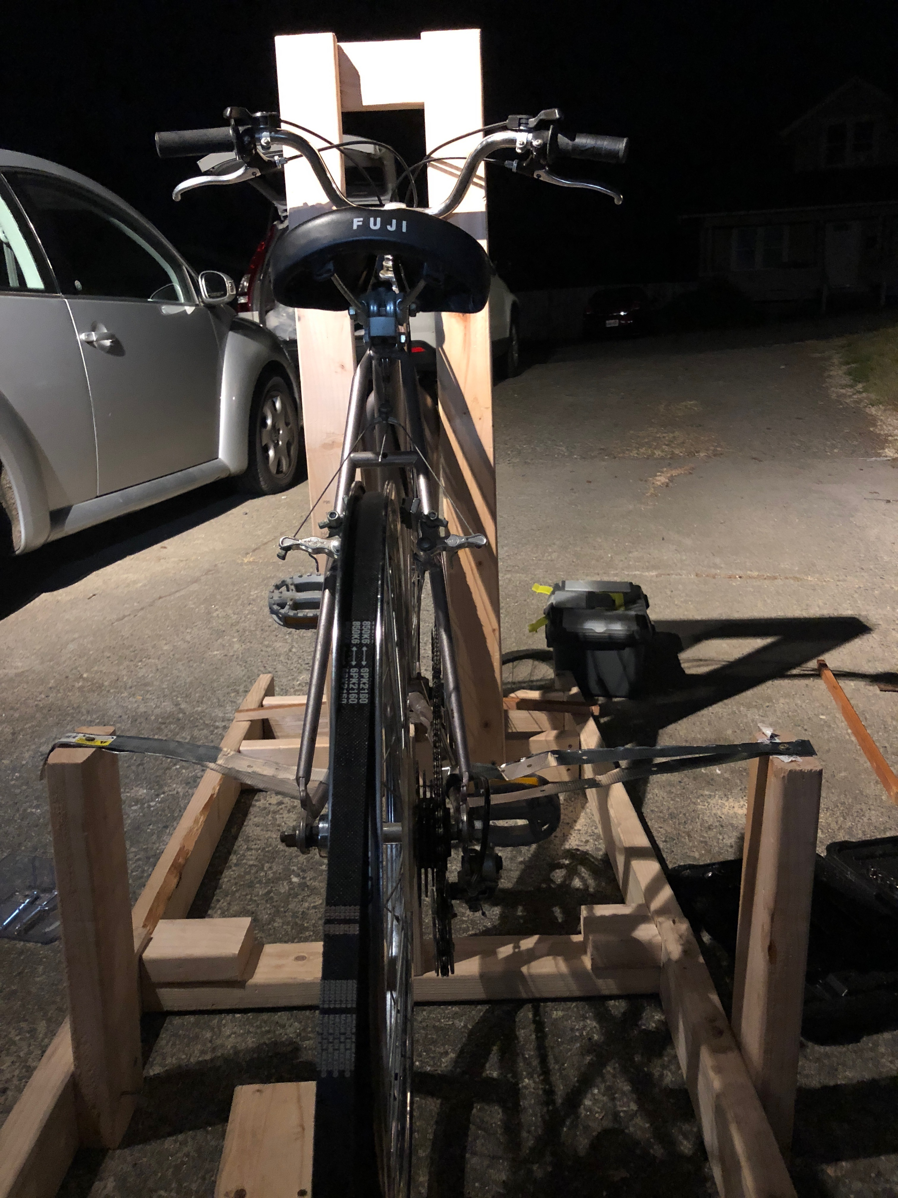 Picture of Bike Powered Generator Using an Alternator