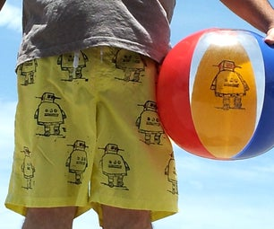Instructables Robot Swim Shorts
