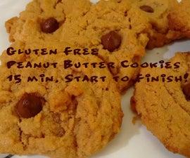Gluten Free Peanut Butter Cookies: 15 Minutes Start to Finish!