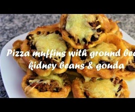 Pizza Muffins With Ground Beef, Kidney Beans & Gouda Cheese Recipe