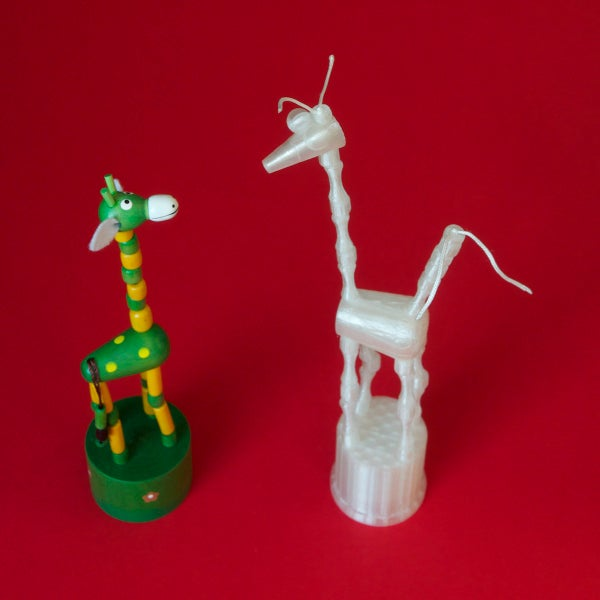 3D Printed Push Puppet Named Eeps