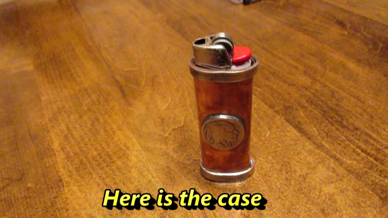 Picture of Handmade Copper Lighter Case With Buffalo Nickels and Coin Rings