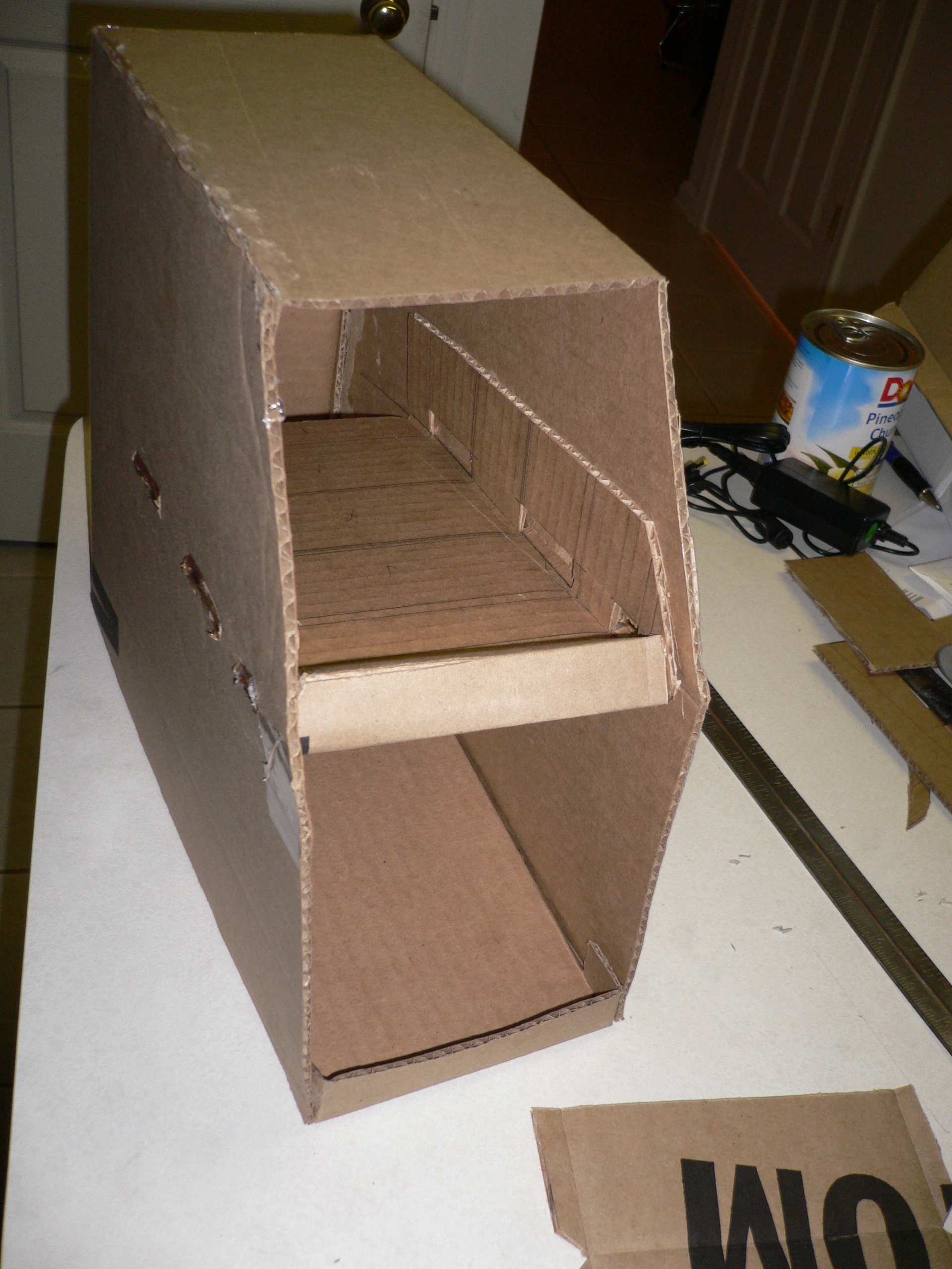 How To Make A Can Organizer Out Of Cardboard 10 Steps