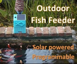 Outdoor Fish Feeder - Solar Powered