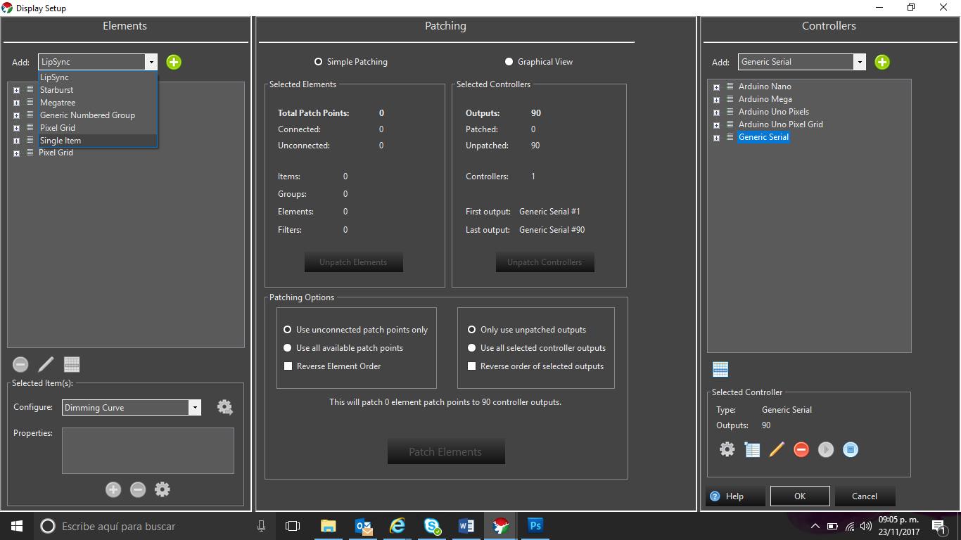 Picture of Configurar Un Elemento Para Pixeles (Configure Element for the Pixels)