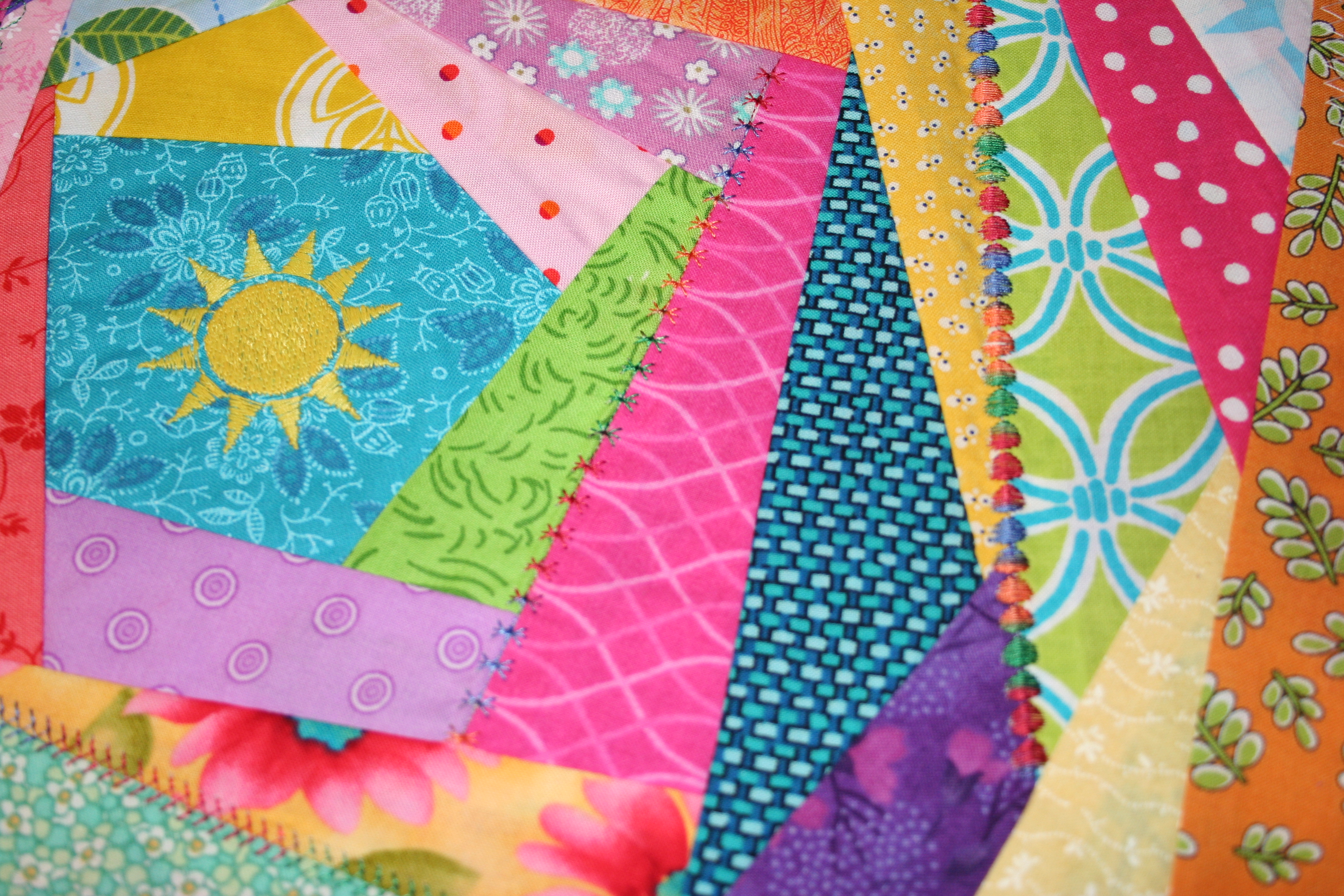 How to Sew an Easy Crazy Quilt Block: 9 Steps (with Pictures)