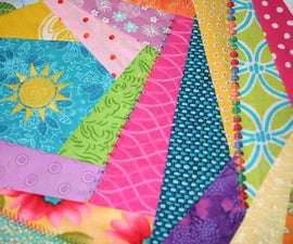 How to sew an easy Crazy Quilt block