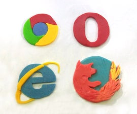 How to Make 3D Logo Browser from Clay