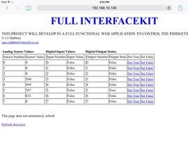 Full Python Web Interface kit for PhidgetSBC3