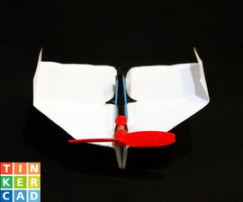 Rubber Band Powered Paper Plane