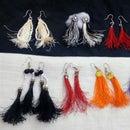 Matching Silk Thread Tassel Earrings