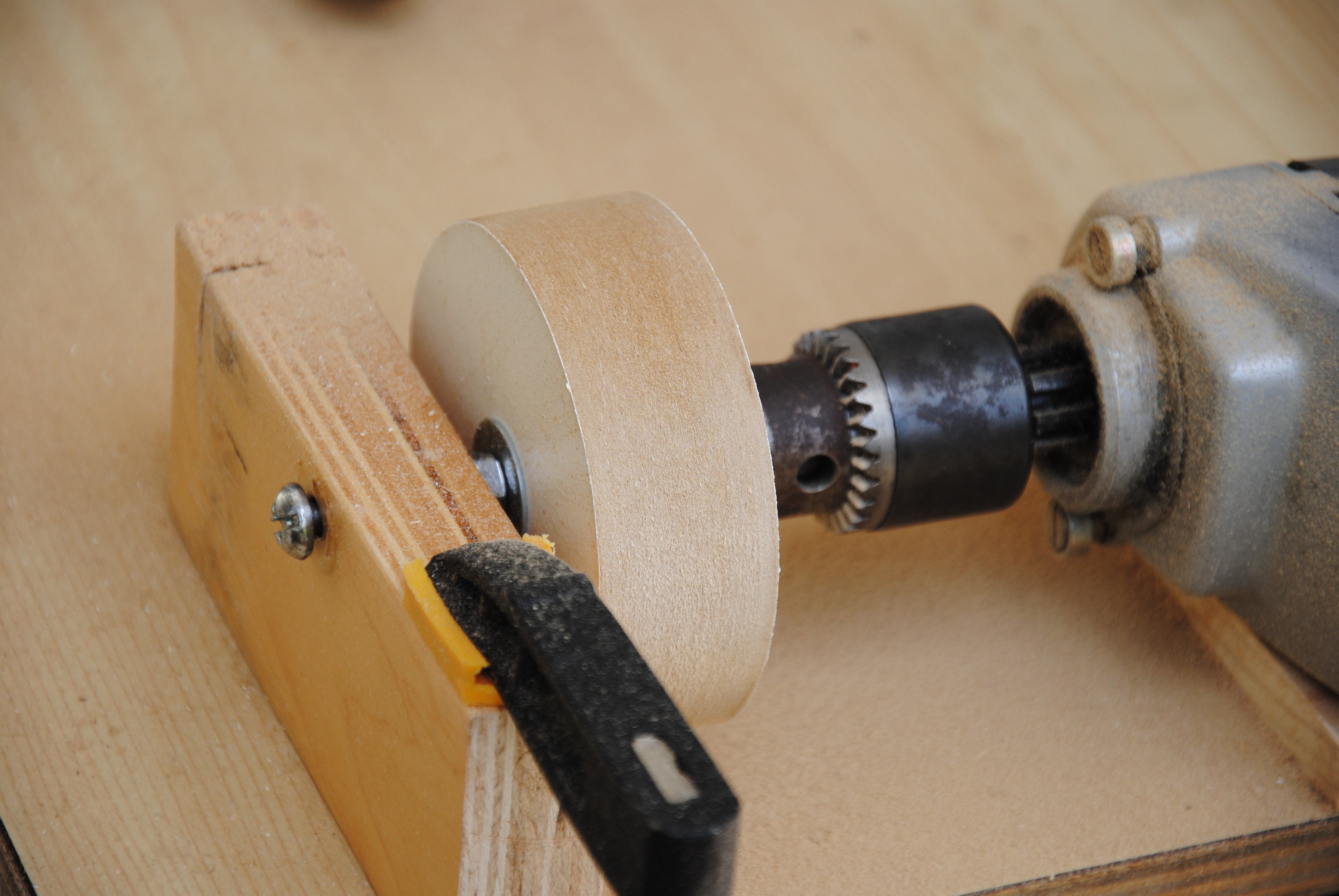 Picture of Remove Burn Mark, and Turn the Wheel True