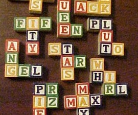 How to Make your own Pentominoes from Alphabet Blocks