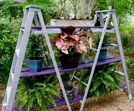 DIY A-Frame Ladder Plant Stand