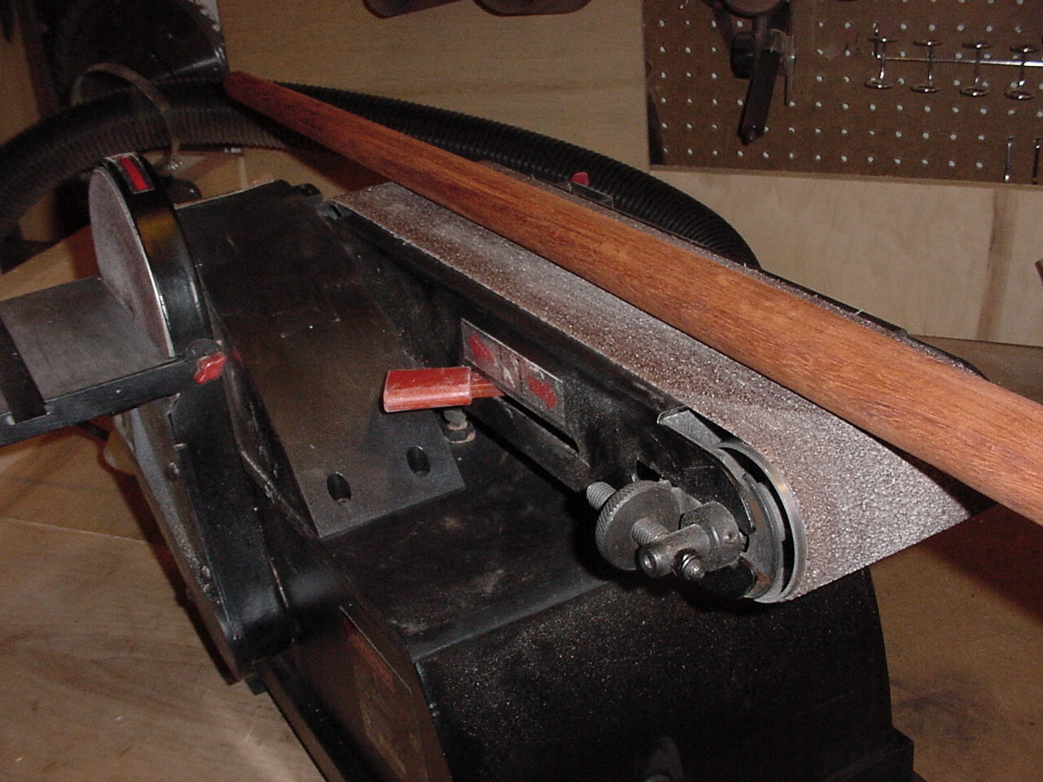 Picture of Remove Excess Wood on Shaft With Power Tools.