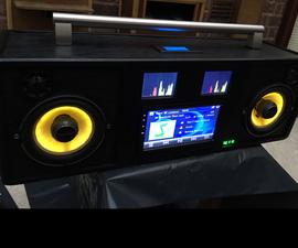 CD / DVD / BT / USB / SD Portable Audio System