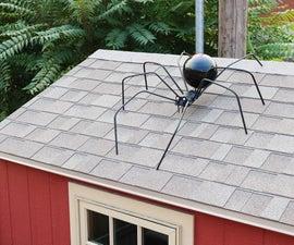 如何制作巨大的万圣节蜘蛛