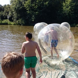 Life-size Hamster Ball Dodecahedron