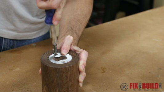 Apply the Finish and Mount the Bottle Opener Insert