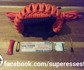 The Medic a Paracord Survival Bracelet for First Aid.