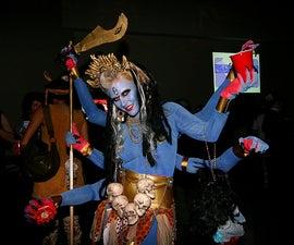 Six-armed goddess Kali Costume