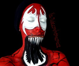 Carnage! face paint.