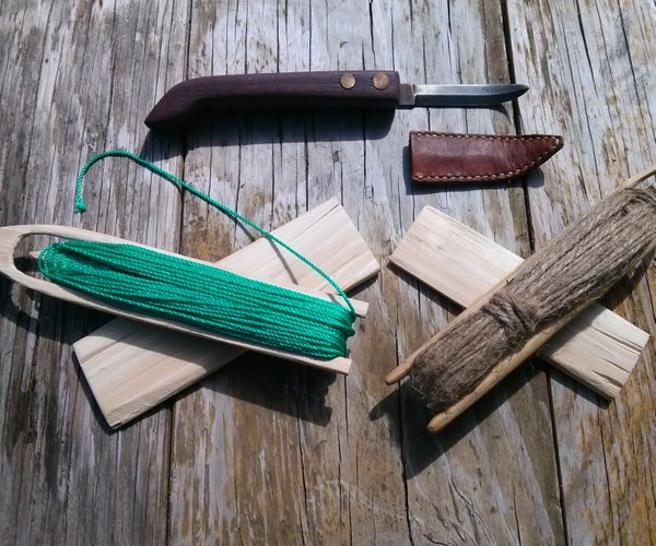 Primitive Net Making From Carving Your Needle to Weaving Your Net
