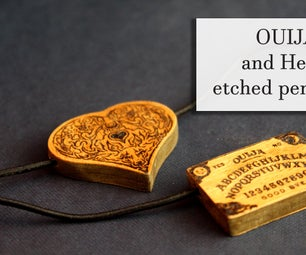 OUIJA and Heart Etched Pendants