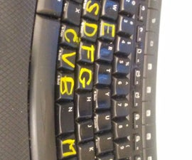 Replace Letters on Computer Keyboard (or Make Bigger Letters) With Nail Polish