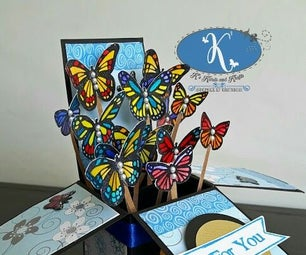 Card in a Box - Butterflies