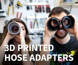 3d Model and Print Hose Adapters