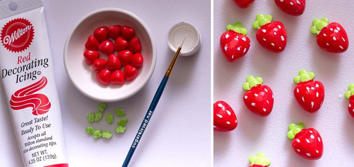 Picture of How to Make Strawberry Candy Decorations