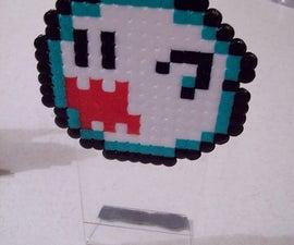 8-bit Desk Standees from Perler Beads