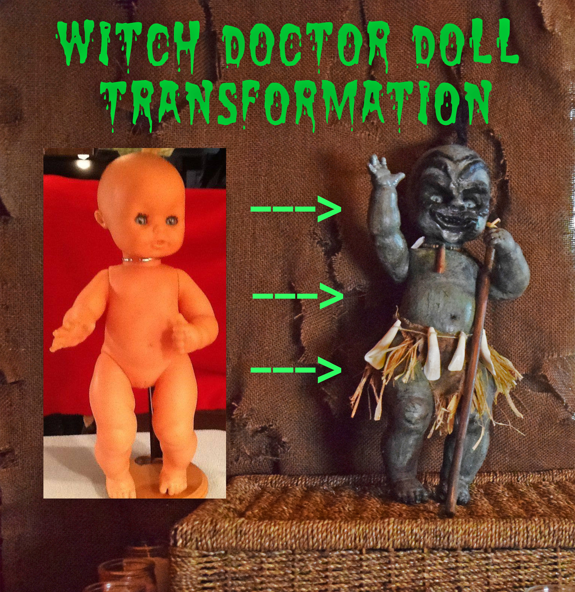 Picture of Scary Witch Doctor Doll