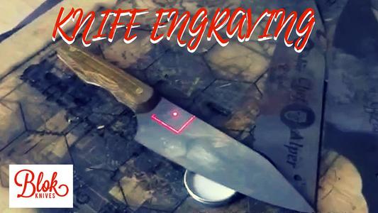 Fibre Laser Engraving - Carbon Steel Chefs Knife