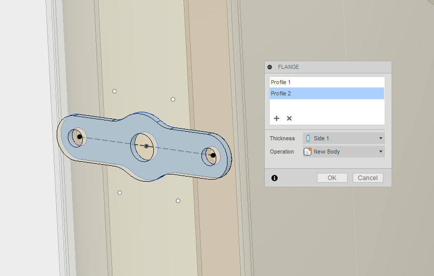 Picture of Create the Mounting/assembly Tabs