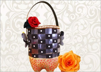 Recycled Craft Ideas: How to Make Utility Basket From Recycled Craft