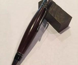 Turning an Ironwood Pen on a Lathe