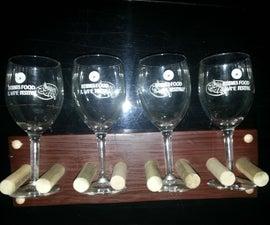 wine glass wall mount