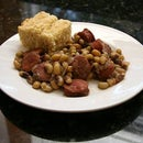 Smoked Sausage and Black-Eyed Pea Casserole