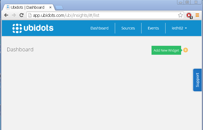 Picture of Creating an Indicator in the Ubidots Dashboard